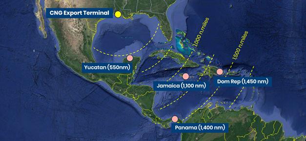 CNG Optimum launch into the Gulf Coast, USA