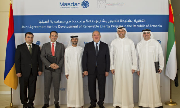 Masdar and ANIF join hands to pursue 400MW of solar power projects in Armenia