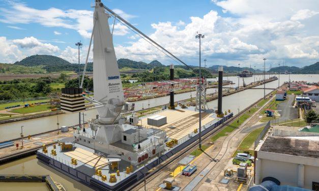Damen concludes keel laying on 75-metre Crane Barge 7532