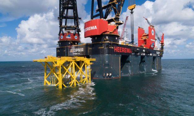 First jacket offshore substation Hollandse Kust (zuid) installed